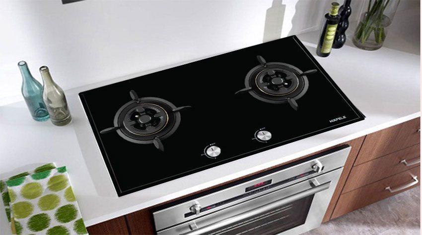 Thiết kế hiện đại và sang trọng của bếp gas đôi âm kính Hafele HC-G802C