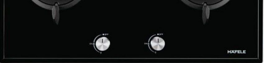 Bảng điều khiển của bếp gas đôi âm kính Hafele HC-G802C